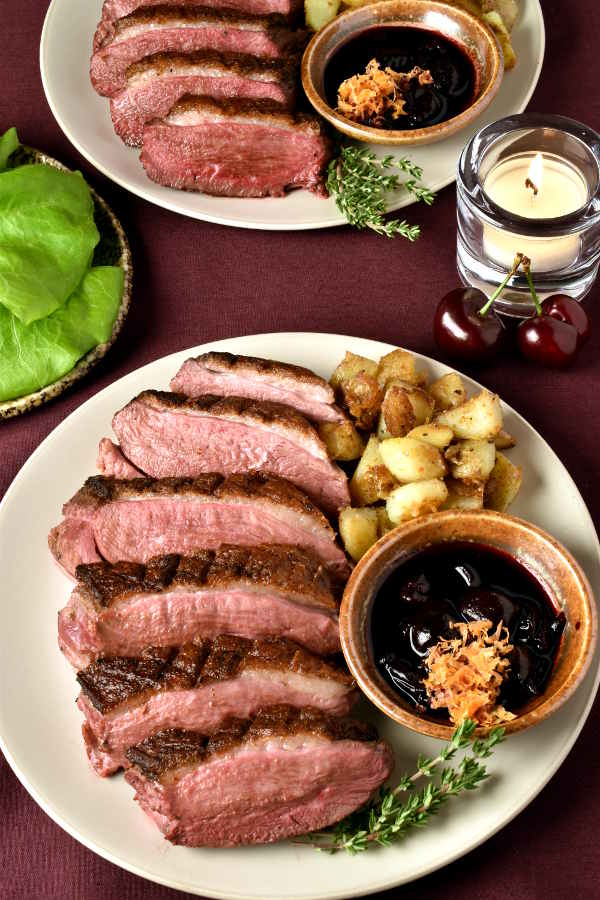 Duck Breast with Cherry Sauce | WednesdayNightCafe.com
