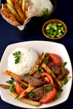 Lomo Saltado (Beef and French Fry Stir Fry) | WednesdayNightCafe.com