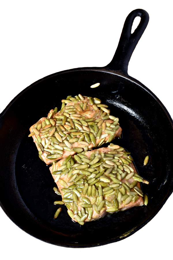 Pumpkin Seed Crusted Salmon | WednesdayNightCafe.com