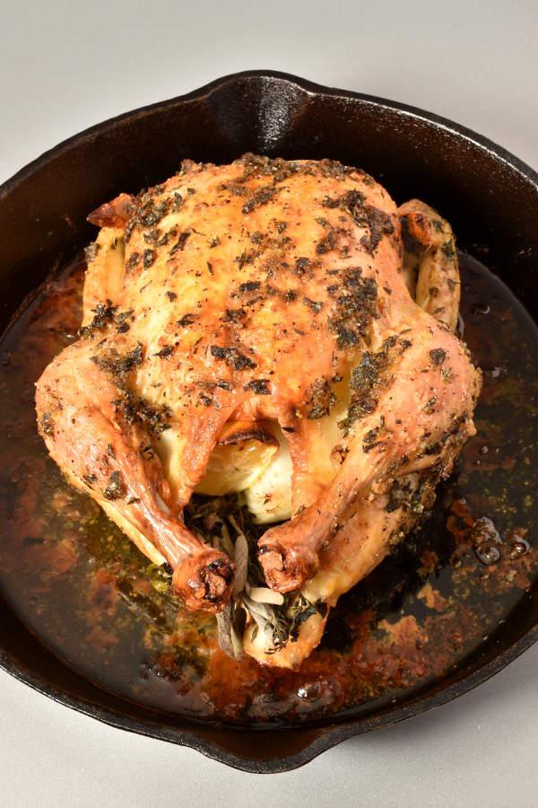 Engagement Chicken - Herb Roast Chicken | WednesdayNightCafe.com