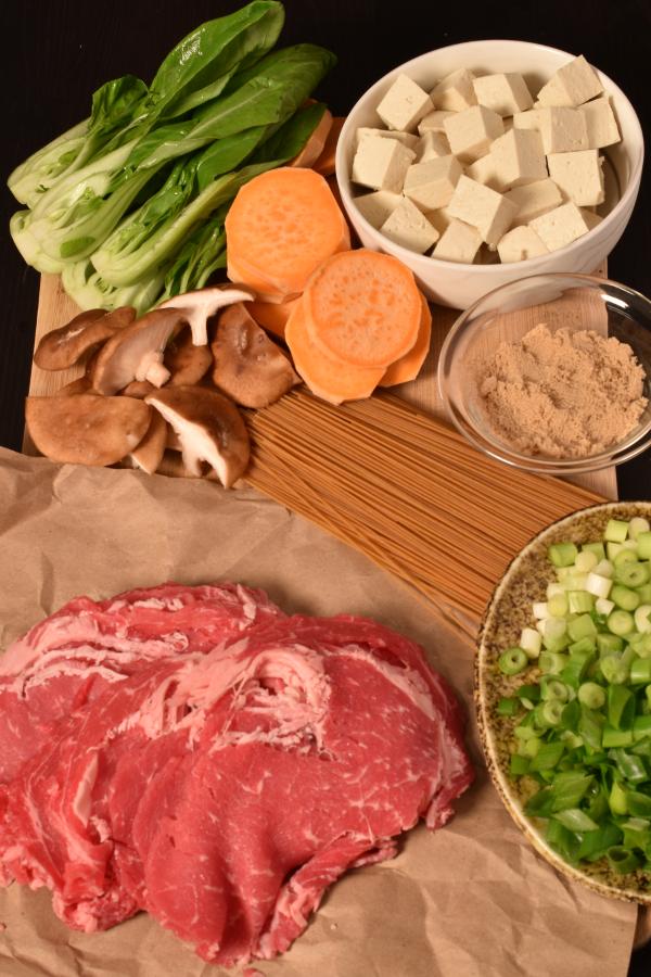 Beef Sukiyaki with Pan Fried Tofu | WednesdayNightCafe.com