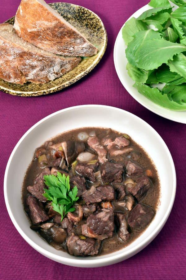 Beef Bourguignon (French Beef Stew) | WednesdayNightCafe.com