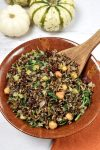 Fried Wild Rice with Hazelnuts and Kale | WednesdayNightCafe.com