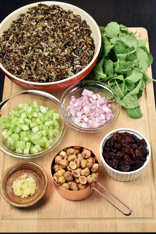 Fried Wild Rice with Hazelnuts and Kale   WednesdayNightCafe.com