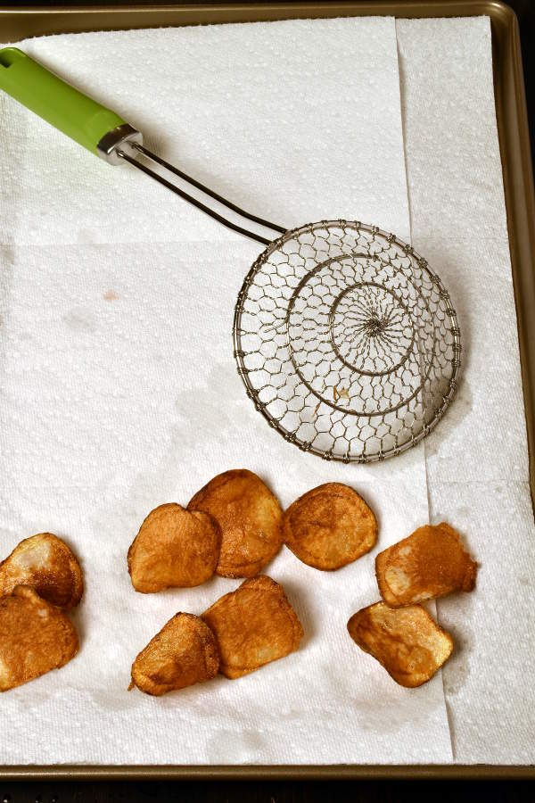 Steak with Homemade Potato Chips| WednesdayNightCafe.com