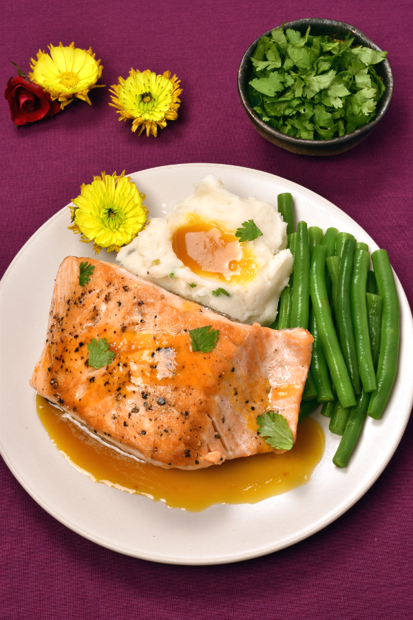 Pan-Seared Salmon with Passionfruit Sauce