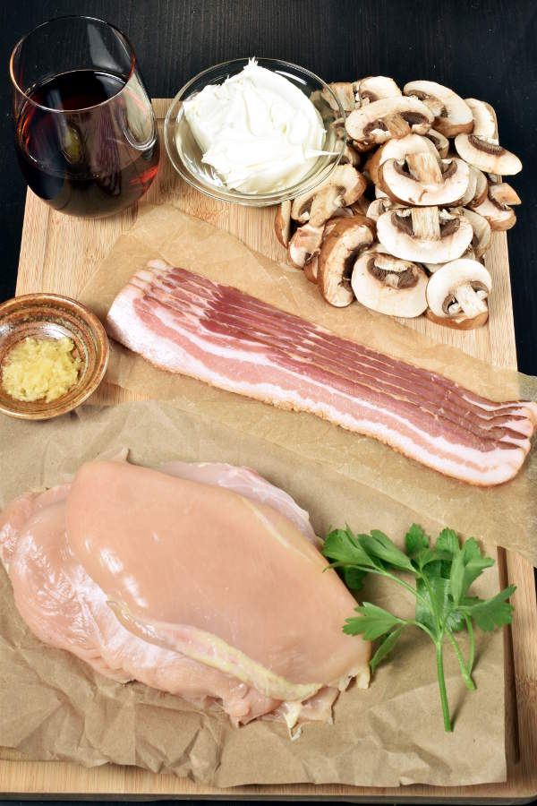 Bacon Chicken Marsala| WednesdayNightCafe.com