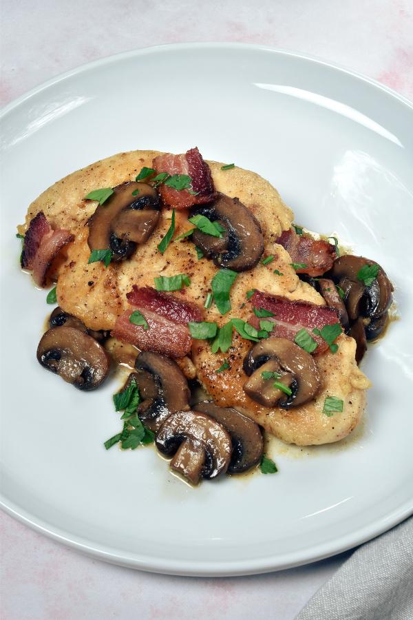 Bacon Chicken Marsala| WednesdayNightCafe.com