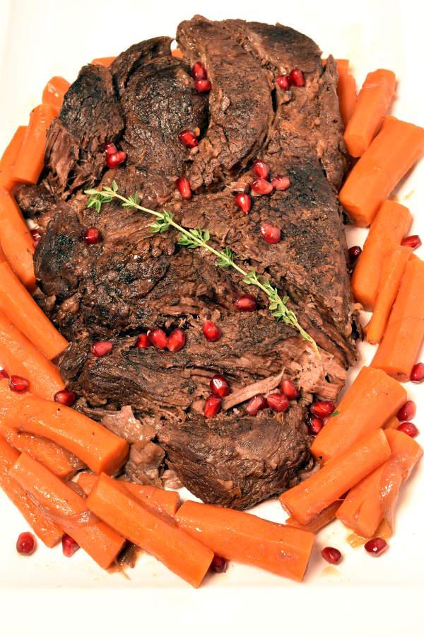 Pomegranate Pot Roast| WednesdayNightCafe.com
