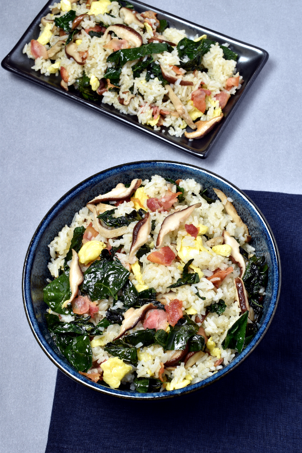 Bacon Mushroom Kale Fried Rice