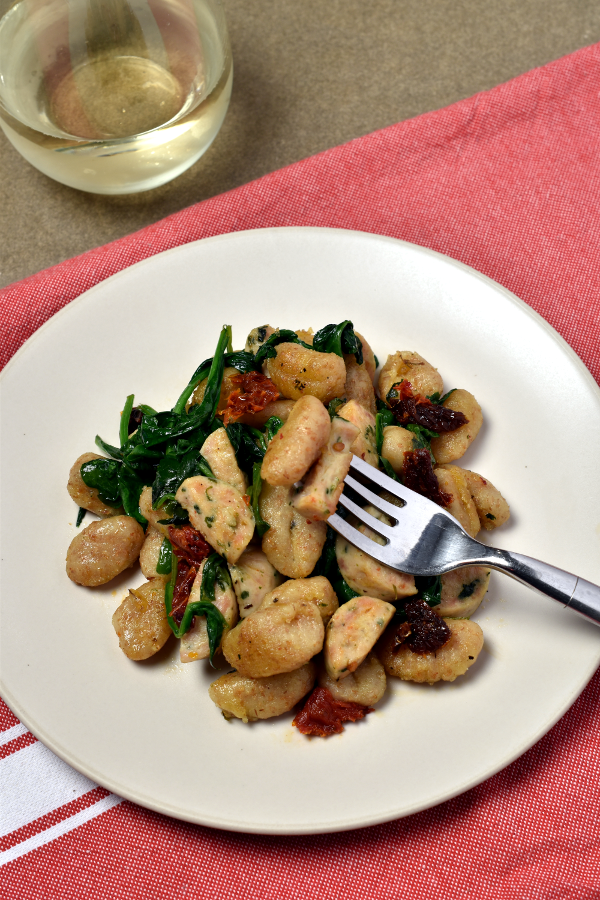 Crispy Gnocchi Skillet with Chicken Sausage