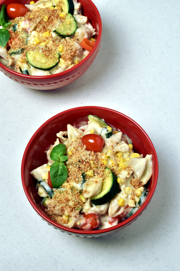 Summer Vegetable Mac and Cheese (Stovetop)