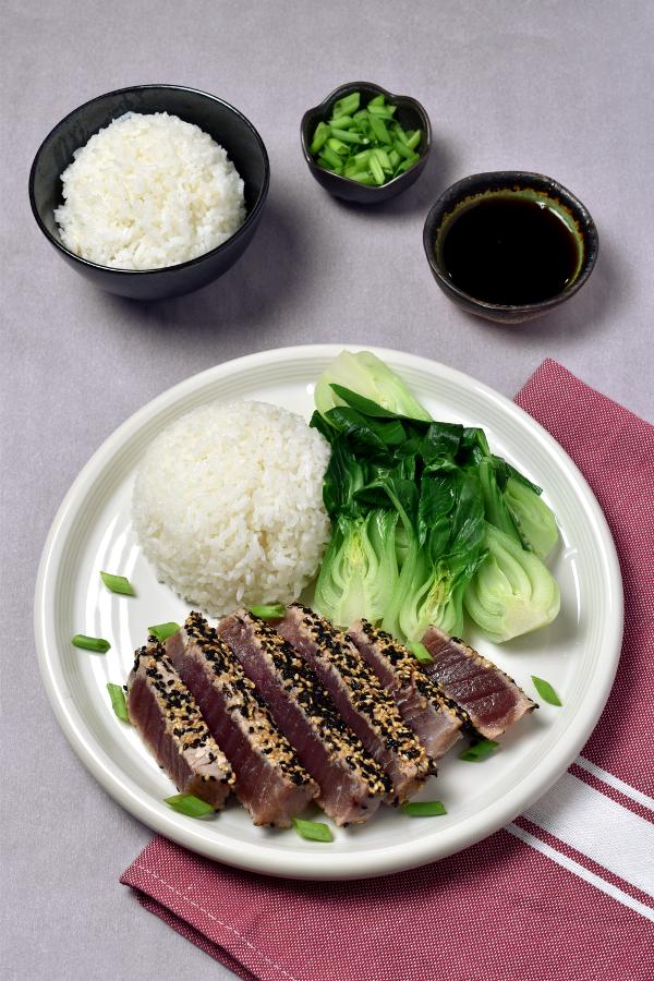 Sesame Ahi Tuna Steaks| WednesdayNightCafe.com
