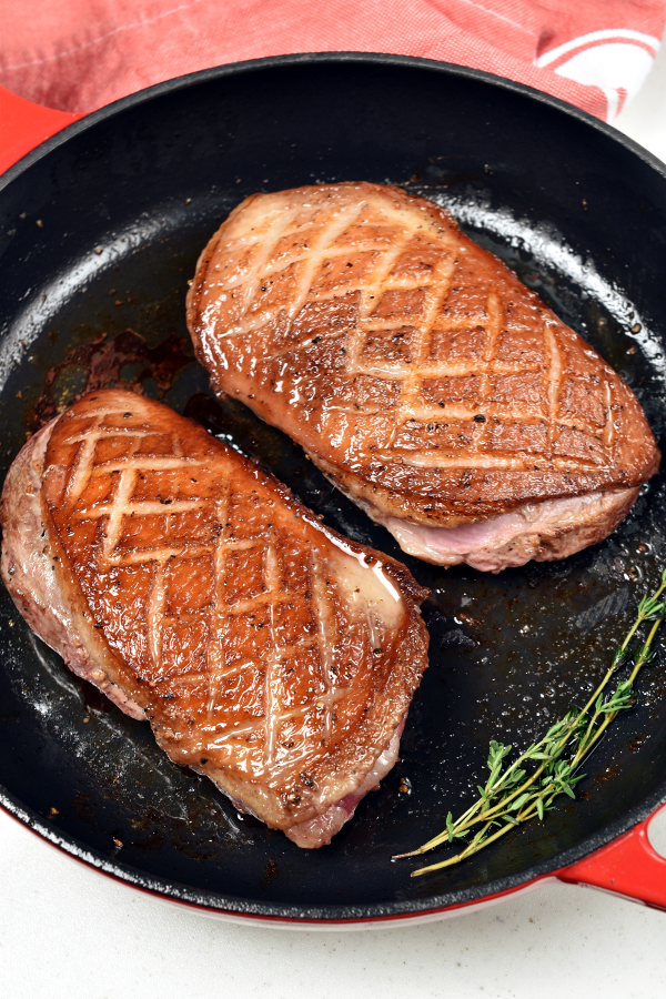 Duck Breast a L'Orange with Oven Roasted Potatoes | WednesdayNightCafe.com
