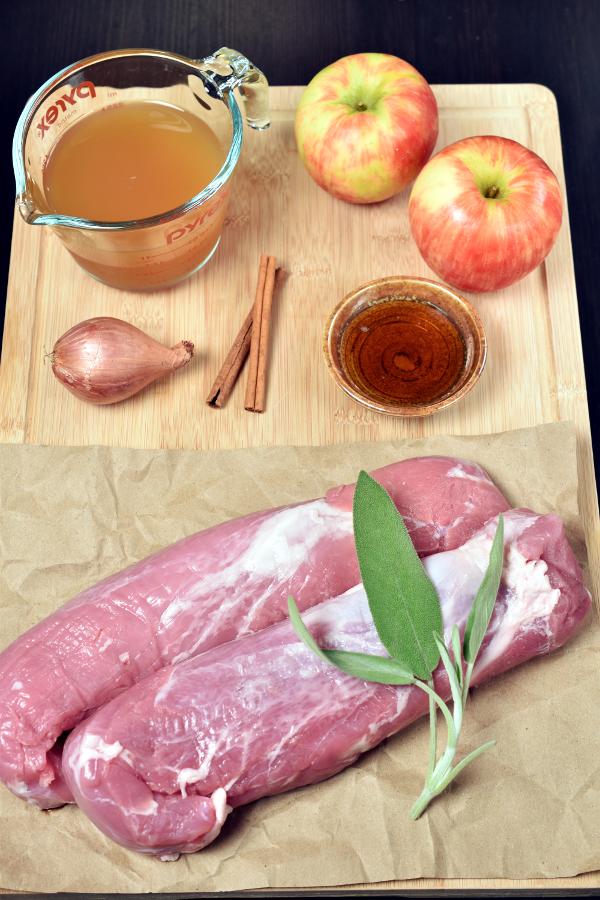 Pork Tenderloin with Apple Cider Pan Sauce | WednesdayNightCafe.com