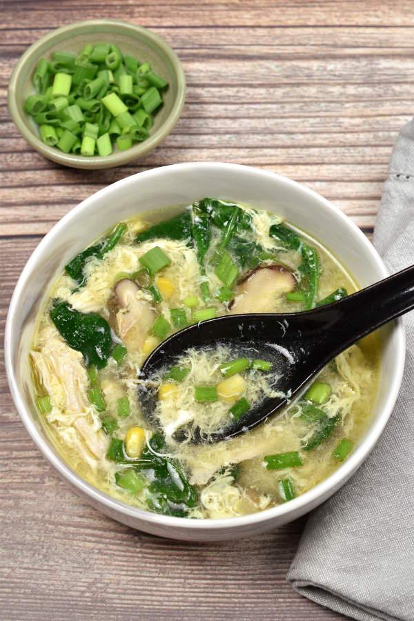 Chicken and Sweetcorn Soup| WednesdayNightCafe.com
